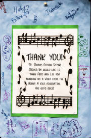 Thomas Edison Middle School Thank You Poster